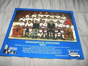 Vintage 1980-81 Indianapolis Checkers Team Photo