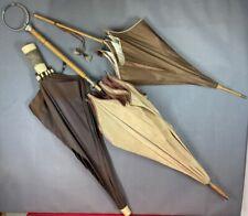 OMBRELLE ANCIENNE, parapluie  lot de 3 - FIN XIXè début XXème À RESTAURER