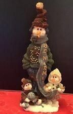 "Boyds Bears Snowman ""Be Warm� Helga Anna & Ingrid 11E 1997 Folkstone No Box"