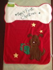 """New listing Old Navy Puppy's First Christmas Blanket, 32"""" X 26"""", Nwt"""