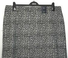 M&S Marks Ladies Black 22R Geometric Print PullOn Stretch Mini Aline Skirt BNWT
