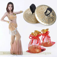 Belly Dancing Dancewear Decoration Golden Brass Finger Cymbals Zills 1 Pair