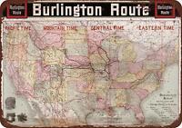 """1946 Boston and Maine Railroad Snow Train Rustic Retro Metal Sign 8/"""" x 12/"""""""
