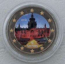 2 Euro Deutschland 2016 Sachsen / Dresdner Zwinger in Farbe unz.