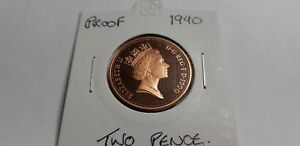 @@@  A SUPERB PROOF 1990 TWO NEW PENCE FROM MINT SET @@@