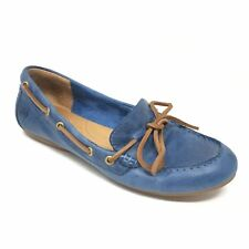 Women's Born Tamala Ballet Flats Loafers Shoes Size 7M Blue Leather Bow X5