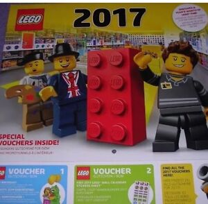 LEGO 2017 Wall Calendar Brand New Sealed With Vouchers