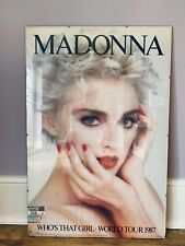 Madonna Original Ticket and Poster 1987 World Tour