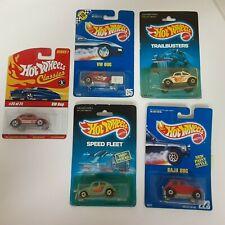 Hot Wheels (lot of 5) VW Bug Baja Bug On unopened Cards