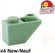 4x Brique Brick 1x2 2x1 vert jaune fluo trans neon green 3065 NEUF Lego