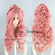 Halloween Wig Costume VOCALOID Luka Pink Lange Cosplay Heat Resistant Hair 90CM