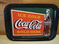 Vintage 1999 Coca Cola Sold Here Coke Advertising Metal Tray  B1286