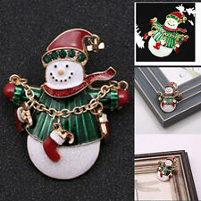 Brooch Enamel Gorgeous Rhinestone Crystal Christmas Tree Pin Holiday Party Gift