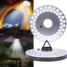 48 LED Outdoor Umbrella Night White Lamp Pole Light Patio Yard Garden Lawn NEW