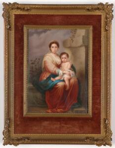 "Petragnani ""After Murillo's Madonna"", large miniature, 1893"