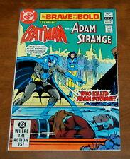 The Brave and the Bold #190 Nm-/Nm Batman and Adam Strange Dc Comics 1982