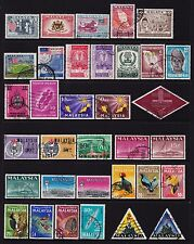 Malayan Federation Malaysia Stamps 3 pages all different