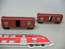 AE285-0,5# 2x Micro-Trains N Boxcar Canadian National C.N. 521995 Kadee, NEUW
