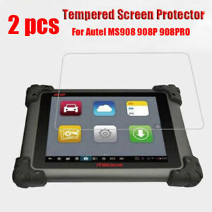 2pcs Tempered Screen Protector Film Explosion-Proof For Autel MS908 908P 908PRO