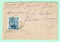 PORTUGAL PONTA DELGADA AZORES SET 1891 Cover  via NYC > ELMORE VT 50r UPU Rate