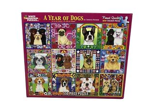 "JIGSAW PUZZLE (White Mountain 550 pcs.) ""A Year of Dogs"""
