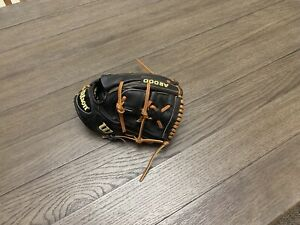 "Wilson A2000 B2 11.75"" Two Piece Web Baseball Black Brown"