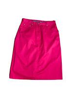 Yarra Trail Women's A - Line Knee Length Hot Pink Skirt Size 14