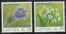 MNH Latvia FLOWERS set - 2005, Mi.Nr.631A-632A