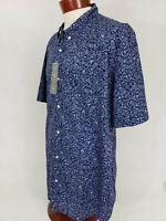 Reyn Spooner Mens north Shore Juice Tailored Fit Button up Shirt indigo NWT 3XL