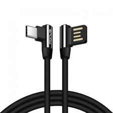 RIGHT ANGLE L-SHAPED DURABLE 10FT LONG TYPE-C USB CABLE K2E for SMARTPHONES
