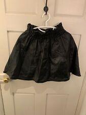 Leather Skater Skirt Black Size 10-12