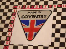 Made in Coventry Chrome Sticker- Jaguar MK2 E-Type 420G S-Type XKE XJ6 XJS XJ12
