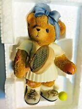 Very Rare Cherished Teddies 789615 Roberta Tennis Racket Ball Skirt Shoes Nib 9