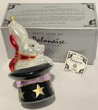 New ListingKurt S Adler Polonaise Magicians Hat Rabbit Blown Glass Ornament In Box Komozja