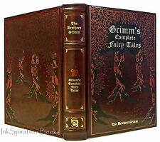 The Brothers Grimm Complete Grimms Fairy Tales Collection Leather Bound Stories