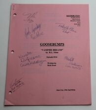 GOOSEBUMPS, 1996 Original TV Script with REAL AUTOGRAPHS BY CAST, Vampire Breath