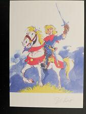 Ex-libris DI SANO Jeune Renaudin cheval couleur (rubine blaques coquines )