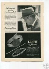 Komfit Forstner Wristwatch Cavanagh Hats Original Ad