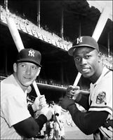 Mickey Mantle Hank Aaron Photo 8X10 - 1958 Topps Card Photo Buy Any 2 Get 1 FREE