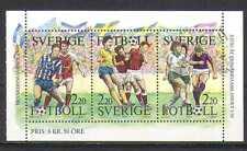 Sweden 1988 Swedish Football/Sports/Games/Soccer/Animation 3v bklt pane (n24580)