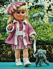 "Dolls clothes knitting pattern.14"" to 17 to 18""doll. Laminated copy. (V Doll 41)"