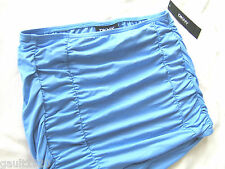 "NWT DKNY Sexy Ruched Pull On Skirt Swim Bottom Beach Cover Up ""Bluebird"" S $72"