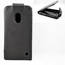 New Black Leather Flip Magnetic Protective Cover Case Pouch For Nokia Lumia 620