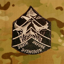 Death Before Dishonor Chevron Skull Army Morale Military MilSpec Patch VELCRO®