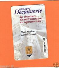 Télécarte - Concert découverte - Alain Marion et Gérard Caussé  (A3561)