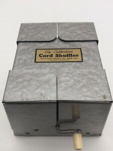 Vintage Playing Card Shuffler Ely Culbertson Metal with Crank