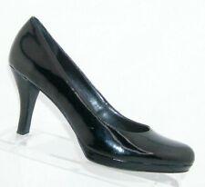 Franco Sarto 'Orlina' black man made round toe slip on platform heels 9M 7162