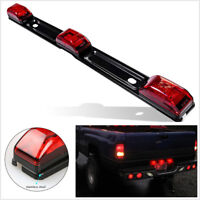 Truck Trailer rear brack lights Red Clearance side Marker Lamp Bar 9 LED Pickup