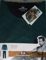 GÖTZBURG 451646 Herren Pure Cotton Schlafanzug//Pyjama Hose Langarm T-Shirt