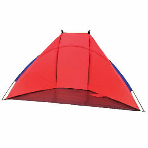BEACH SHELTER TENT RED RAIN SUN PROTECTION SHADE FESTIVAL CAMPING FISHING